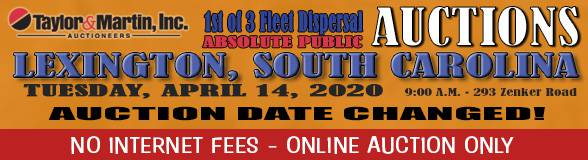 Auction Banner LEXINGTON, SC - 04/14/2020