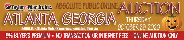 Auction Banner HAMPTON, GA (Atlanta) - 10-29-20
