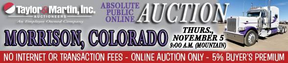 Auction Banner MORRISON, CO - 11/05/2020