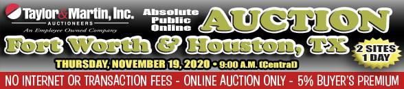 Auction Banner FORT WORTH, TX - 11/19/2020