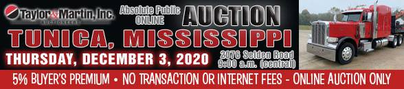 Auction Banner TUNICA, MS - 12/03/2020