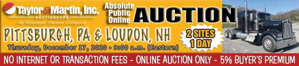 Auction Banner BURGETTSTOWN (Pittsburgh), PA - 12/17/2020