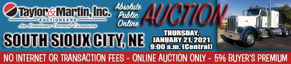 Auction Banner SOUTH SIOUX CITY, NE - 01/21/2021