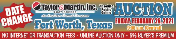 Auction Banner FORT WORTH, TX - 02/26/2021