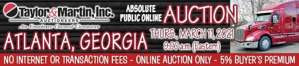 Auction Banner HAMPTON, GA - 03/11/2021
