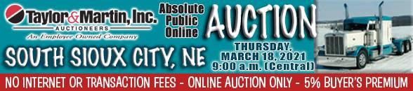 Auction Banner SOUTH SIOUX CITY, NE - 03/18/2021