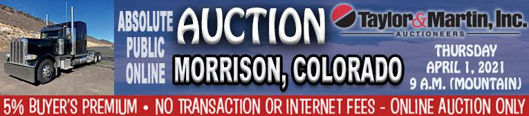 Auction Banner MORRISON, CO - 04/01/2021