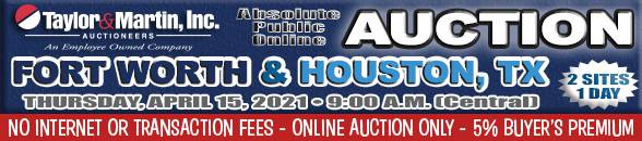 Auction Banner FORT WORTH, TX - 04/15/2021