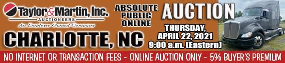 Auction Banner SALISBURY (CHARLOTTE), NC - 04/22/2021