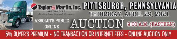 Auction Banner BURGETTSTOWN (PITTSBURGH), PA - 04/29/2021