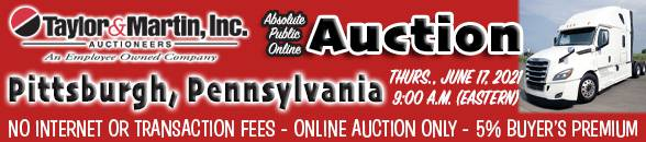 Auction Banner BURGETTSTOWN (PITTSBURGH), PA - 06/17/2021