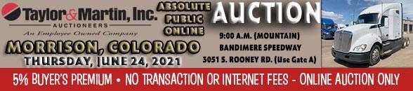 Auction Banner MORRISON, CO - 06/24/2021