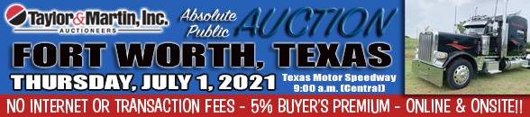 Auction Banner FORT WORTH, TX - 07/01/2021