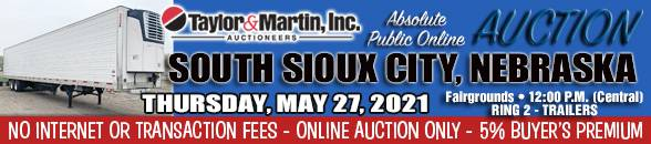 Auction Banner SOUTH SIOUX CITY, NE - TRAILERS RING 2 - 05/27/2021