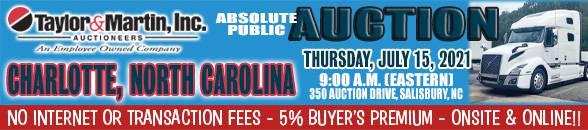 Auction Banner SALISBURY (CHARLOTTE), NC - 07/15/2021