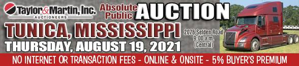 Auction Banner TUNICA, MS - 08/19/2021