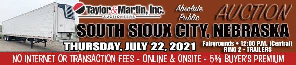 Auction Banner SOUTH SIOUX CITY, NE - 07/22/2021 - RING 2 TRAILERS