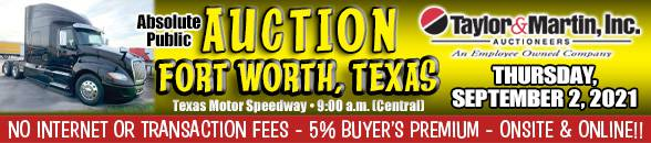 Auction Banner FORT WORTH, TX - 09/02/2021