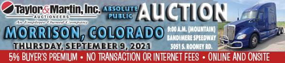 Auction Banner MORRISON, CO - 09/09/2021