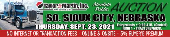 Auction Banner SOUTH SIOUX CITY, NE - 09/23/21 - RING 1 TRACTORS