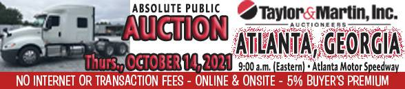 Auction Banner HAMPTON (ATLANTA), GA - 10/14/2021