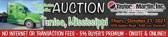 Auction Banner TUNICA, MS - 10/21/2021