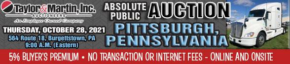 Auction Banner BURGETTSTOWN (PITTSBURGH), PA - 10/28/2021