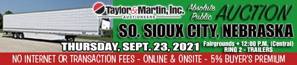Auction Banner SOUTH SIOUX CITY, NE - 09/23/21 - RING 2 TRAILERS