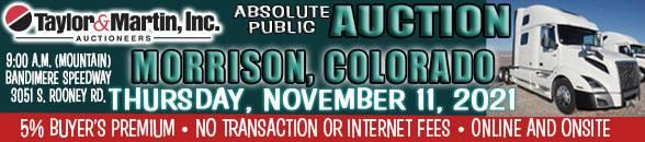 Auction Banner MORRISON, CO - 11/11/2021